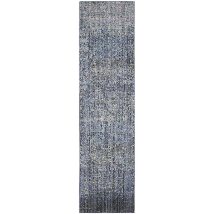 Safavieh Mystique Hombre Blue/Multi Rectangular Indoor Machine-made Distressed Runner (Common: 2 x 8; Actual: 2.25-ft W x 8-ft L)