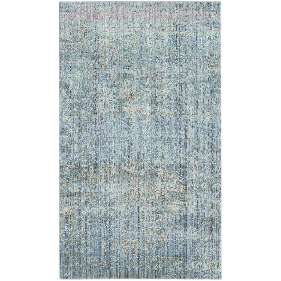 Safavieh Mystique Hombre Blue Indoor Distressed Throw Rug (Common: 3 x 5; Actual: 3-ft W x 5-ft L)