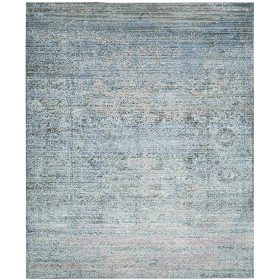 Safavieh Mystique Hombre Blue/Multi Rectangular Indoor Machine-made Distressed Area Rug (Common: 9 x 12; Actual: 9-ft W x 12-ft L)