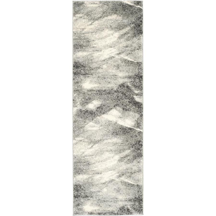 Safavieh Retro Azusa Gray/Ivory Indoor Distressed Runner (Common: 2 x 8; Actual: 2.25-ft W x 8-ft L)