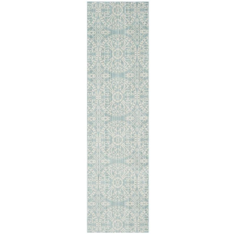 Safavieh Valencia Alpine/Cream Rectangular Indoor Machine-Made Distressed Runner (Common: 2.3 x 10; Actual: 2.25-ft W x 10-ft L)