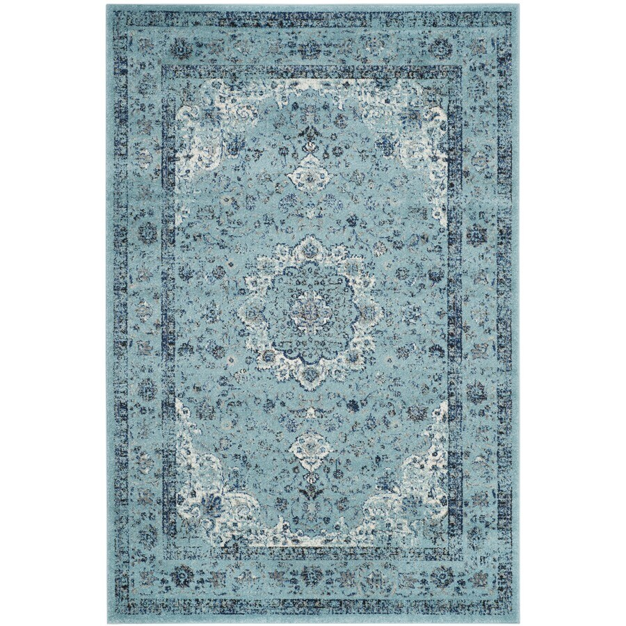 Safavieh Evoke Savoy Light Blue/Light Blue Indoor Oriental Area Rug (Common: 4 x 6; Actual: 4-ft W x 6-ft L)