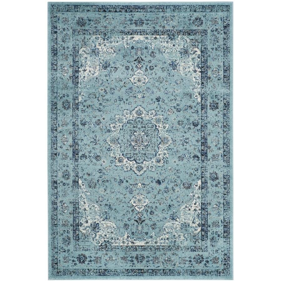 Safavieh Evoke Savoy Light Blue/Light Blue Indoor Oriental Area Rug (Common: 5 x 8; Actual: 5.1-ft W x 7.5-ft L)