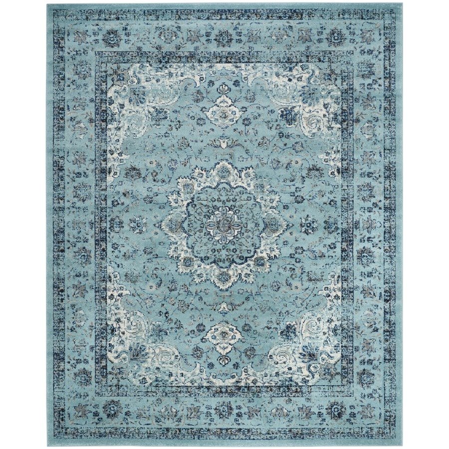 Safavieh Evoke Savoy Light Blue/Light Blue Indoor Oriental Area Rug (Common: 7 x 9; Actual: 6.7-ft W x 9-ft L)