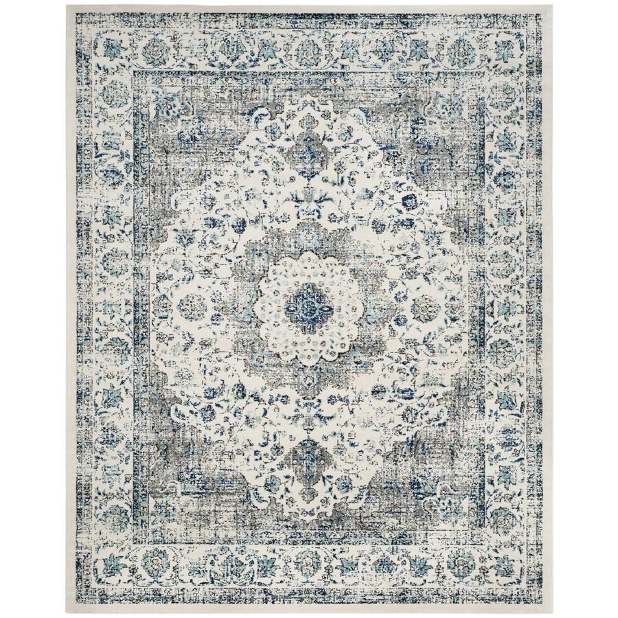 Safavieh Evoke Savoy Gray/Ivory Rectangular Indoor Machine-Made Oriental Area Rug (Common: 6 x 9; Actual: 6.6-ft W x 9-ft L)