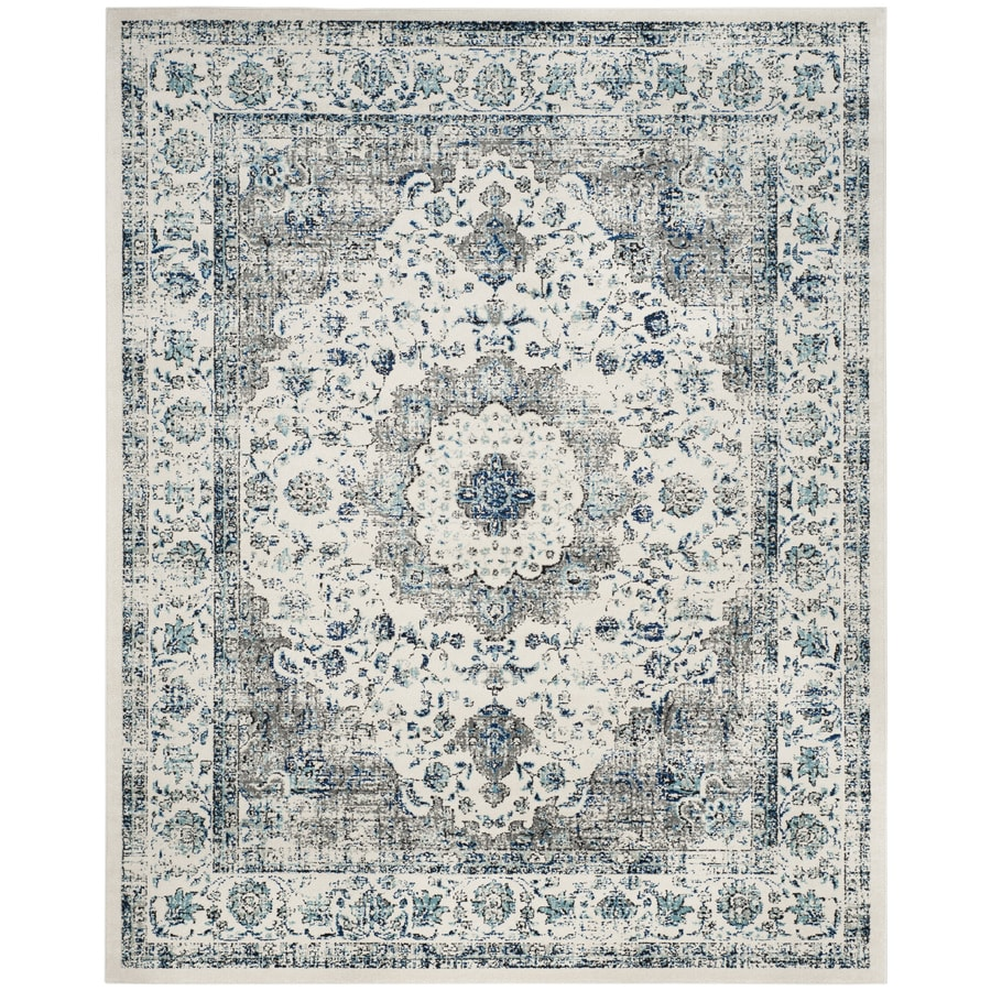Safavieh Evoke Savoy Gray/Ivory Indoor Oriental Area Rug (Common: 8 x 10; Actual: 8-ft W x 10-ft L)