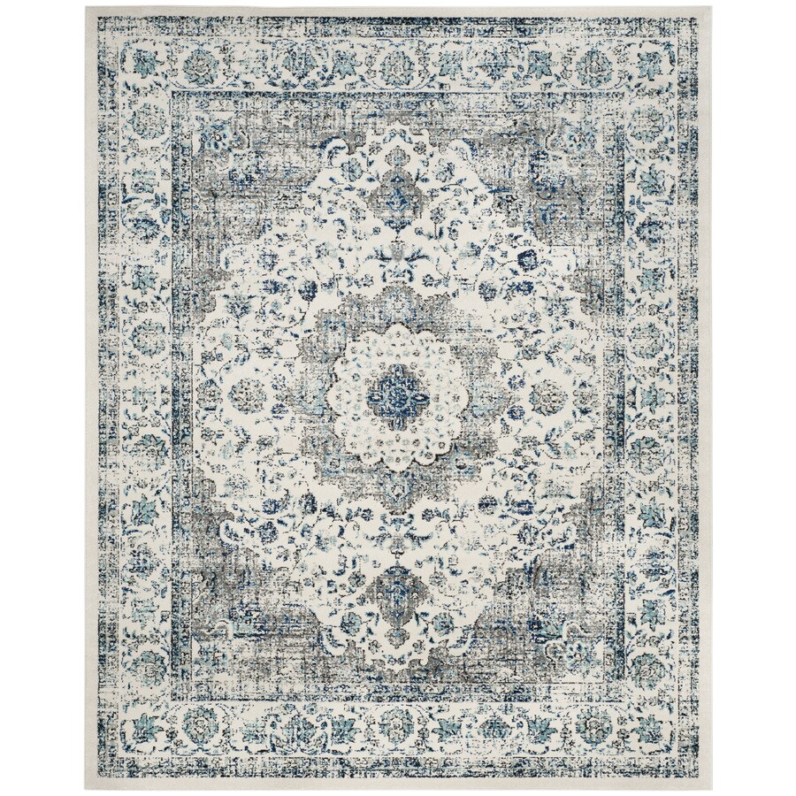 Safavieh Evoke Savoy Gray/Ivory Indoor Oriental Area Rug (Common: 9 x 12; Actual: 9-ft W x 12-ft L)