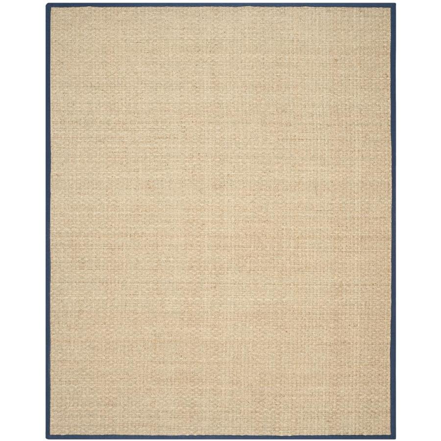Safavieh Natural Fiber Hampton Natural/Blue Indoor Coastal Area Rug (Common: 10 x 14; Actual: 10-ft W x 14-ft L)