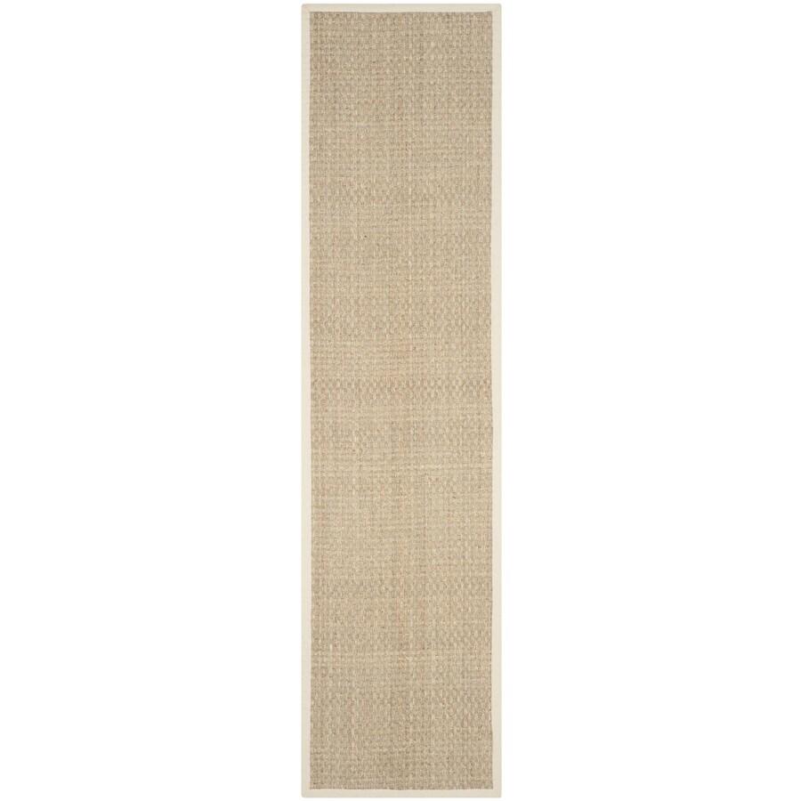 Safavieh Natural Fiber Hampton Natural/Ivory Indoor Coastal Runner (Common: 2 x 20; Actual: 2.5-ft W x 20-ft L)
