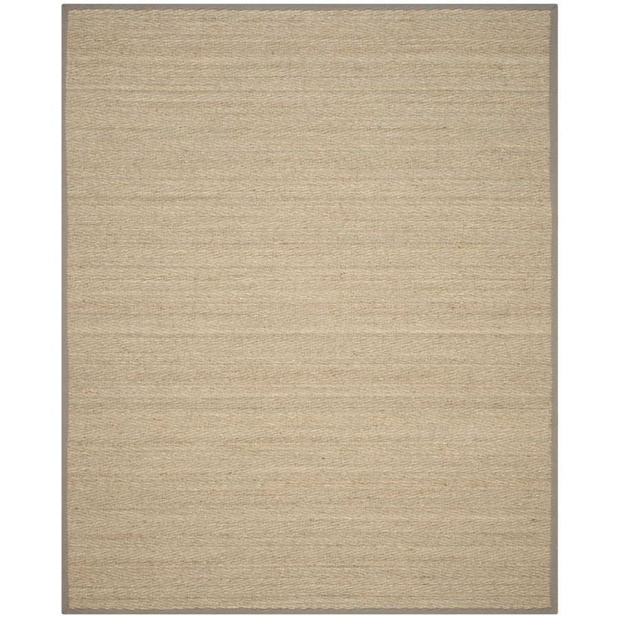 Safavieh Natural Fiber Montauk Natural/Gray Rectangular Indoor Machine-Made Coastal Area Rug (Common: 10 x 14; Actual: 10-ft W x 14-ft L)