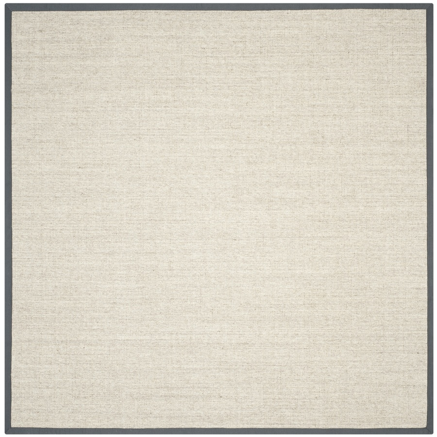 Safavieh Natural Fiber Saltaire Marble/Gray Square Indoor Machine-made Coastal Area Rug (Common: 7 x 7; Actual: 7-ft W x 7-ft L)