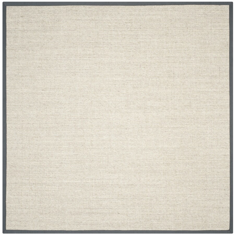 Safavieh Natural Fiber Saltaire Marble/Gray Square Indoor Coastal Area Rug (Common: 9 x 9; Actual: 9-ft W x 9-ft L)