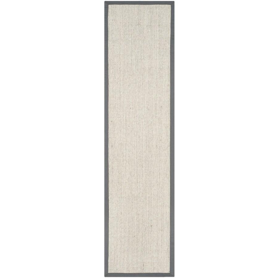 Safavieh Natural Fiber Saltaire Marble/Gray Rectangular Indoor Machine-made Coastal Runner (Common: 2 x 6; Actual: 2-ft W x 6-ft L)