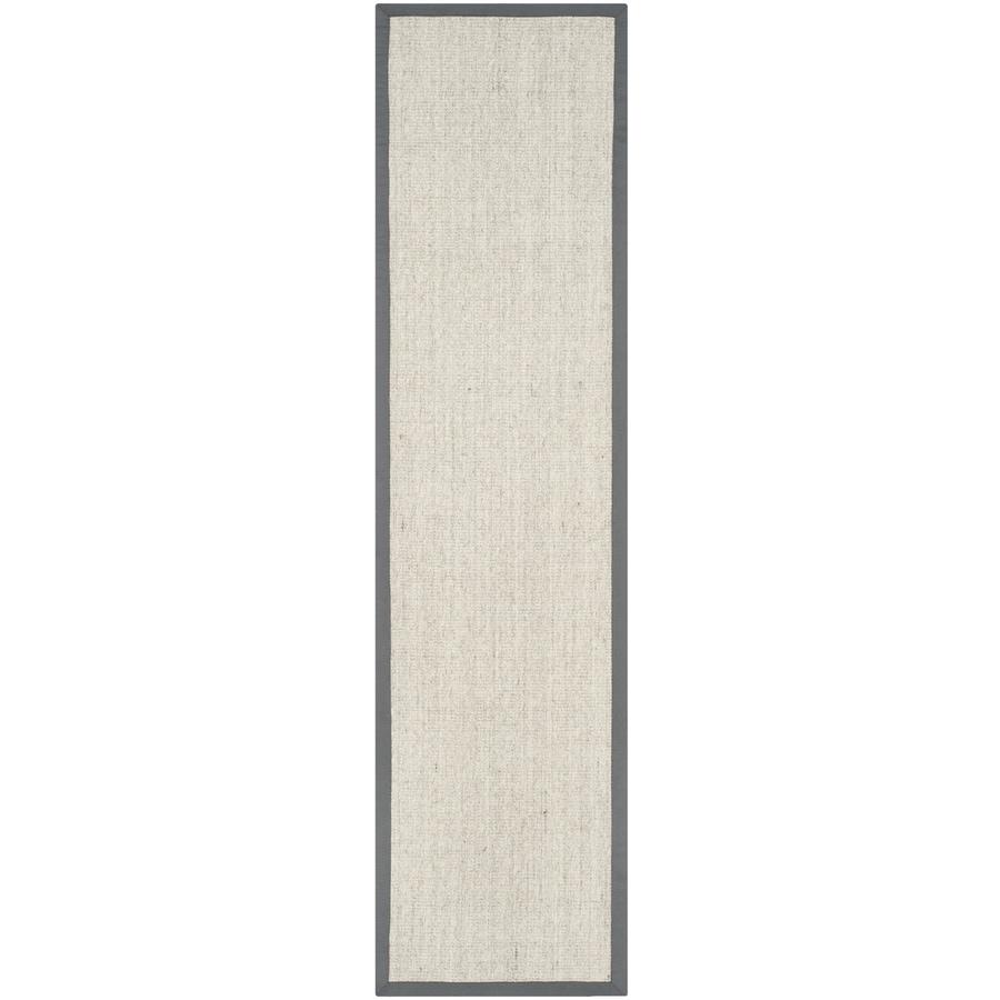 Safavieh Natural Fiber Saltaire Marble/Gray Rectangular Indoor Machine-made Coastal Runner (Common: 2 x 14; Actual: 2-ft W x 14-ft L)