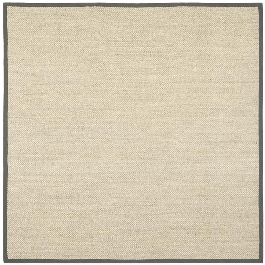 Safavieh Natural Fiber Kismet Marble/Gray Square Indoor Coastal Area Rug (Common: 7 x 7; Actual: 7-ft W x 7-ft L)