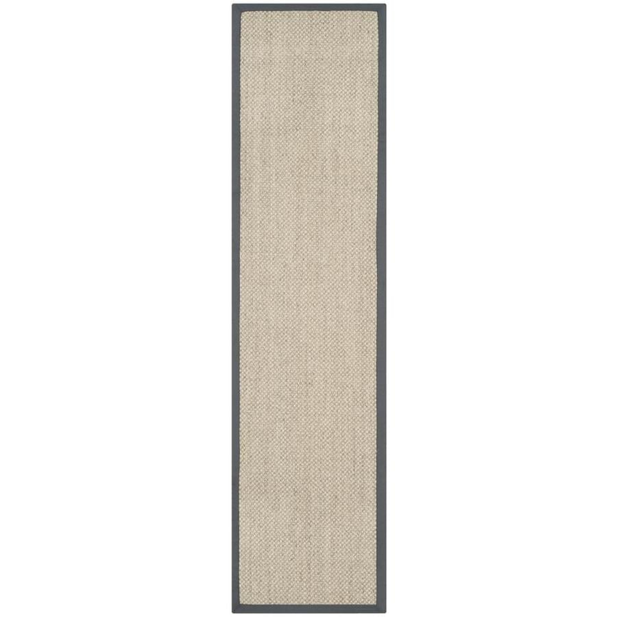 Safavieh Natural Fiber Kismet Marble/Gray Indoor Coastal Runner (Common: 2 x 10; Actual: 2-ft W x 10-ft L)