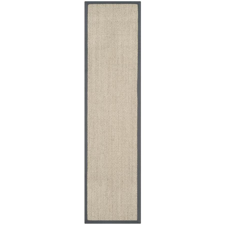 Safavieh Natural Fiber Kismet Marble/Gray Rectangular Indoor Machine-made Coastal Runner (Common: 2 x 8; Actual: 2-ft W x 8-ft L)