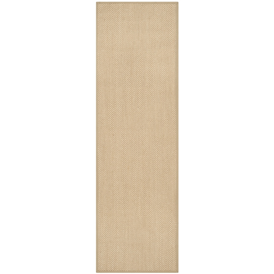 Safavieh Natural Fiber Seaview Maize/Linen Indoor Coastal Runner (Common: 2 x 10; Actual: 2.5-ft W x 10-ft L)