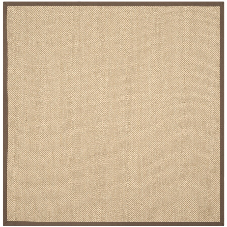 Safavieh Natural Fiber Seaview Maize/Brown Square Indoor Machine-made Coastal Area Rug (Common: 6 x 6; Actual: 6-ft W x 6-ft)