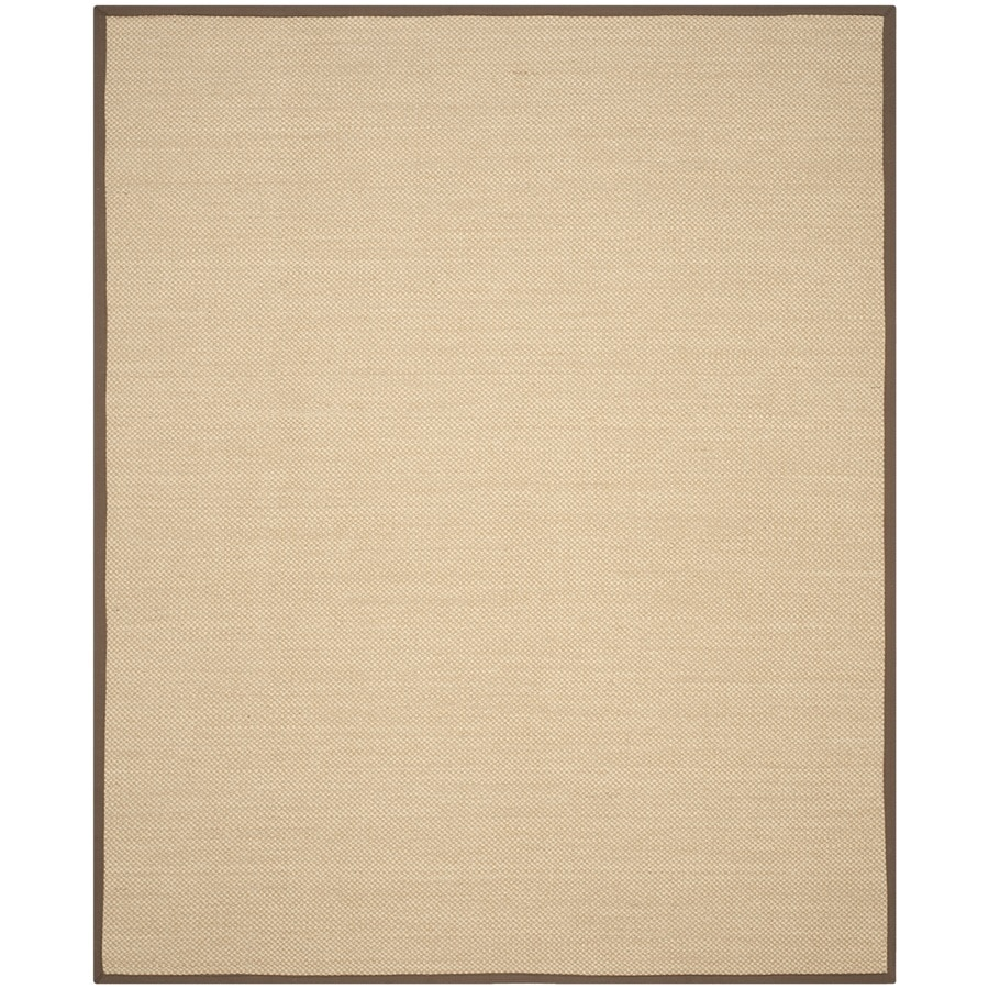 Safavieh Natural Fiber Seaview Maize/Brown Rectangular Indoor Machine-made Coastal Area Rug (Common: 8 x 10; Actual: 8-ft W x 10-ft)