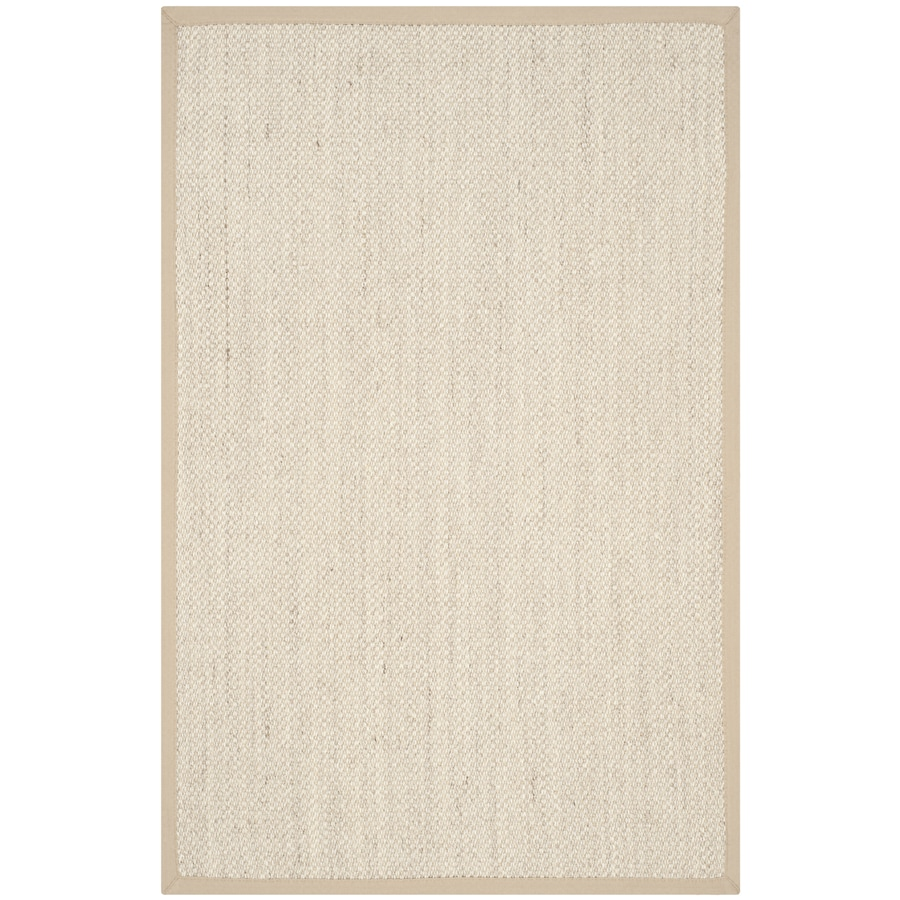Safavieh Natural Fiber Pines Marble/Linen Rectangular Indoor Machine-Made Coastal Throw Rug (Common: 2 x 4; Actual: 2.5-ft W x 4-ft L)