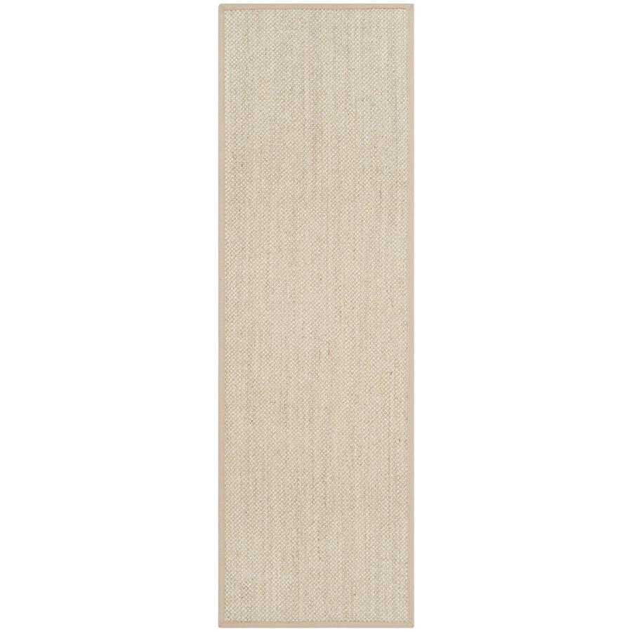 Safavieh Natural Fiber Pines Marble/Linen Indoor Coastal Runner (Common: 2 x 6; Actual: 2.5-ft W x 6-ft L)
