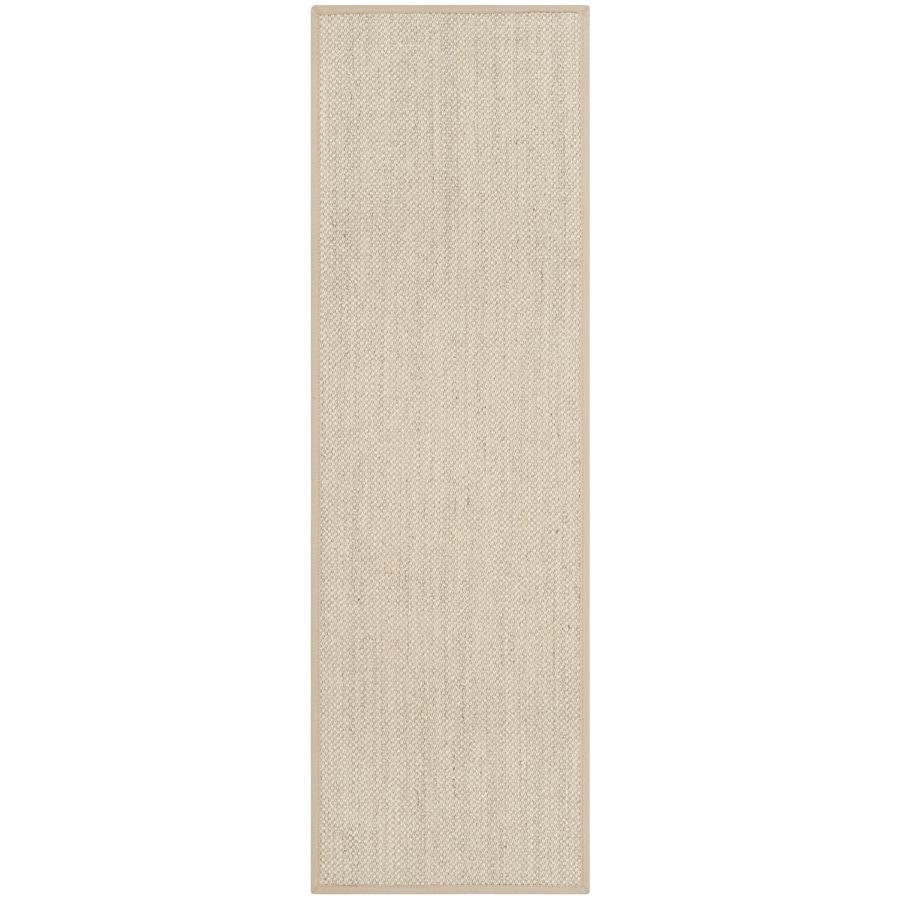 Safavieh Natural Fiber Pines Marble/Linen Indoor Coastal Runner (Common: 2 x 8; Actual: 2.5-ft W x 8-ft L)