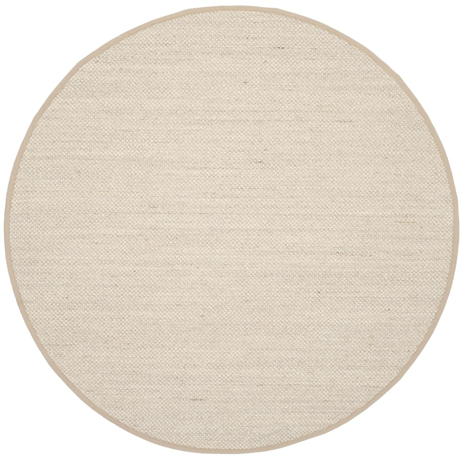Shop Safavieh Natural Fiber Pines Marble Linen Round