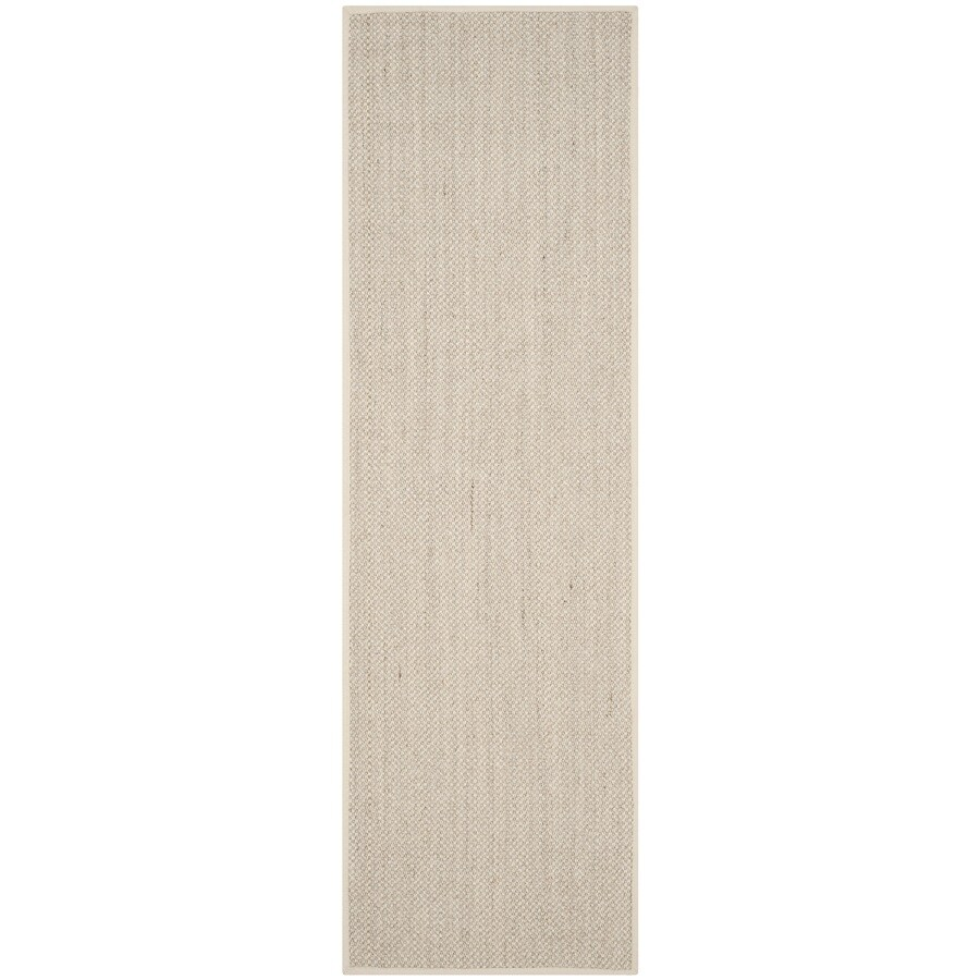 Safavieh Natural Fiber Pines Marble/Beige Indoor Coastal Runner (Common: 2 x 12; Actual: 2.5-ft W x 12-ft L)