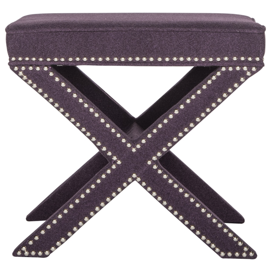 Safavieh Mercer - Palmer Ottoman (Purple)