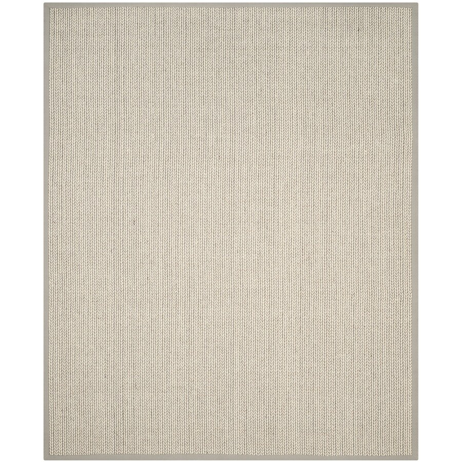 Safavieh Natural Fiber Moriches Gray Indoor Coastal Area Rug (Common: 6 x 9; Actual: 6-ft W x 9-ft L)