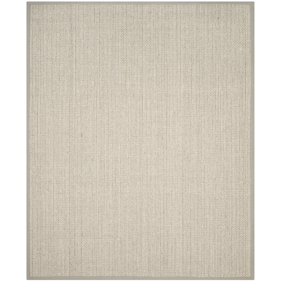 Safavieh Natural Fiber Moriches Gray Rectangular Indoor Machine-made Coastal Area Rug (Common: 9 x 12; Actual: 9-ft W x 12-ft L)