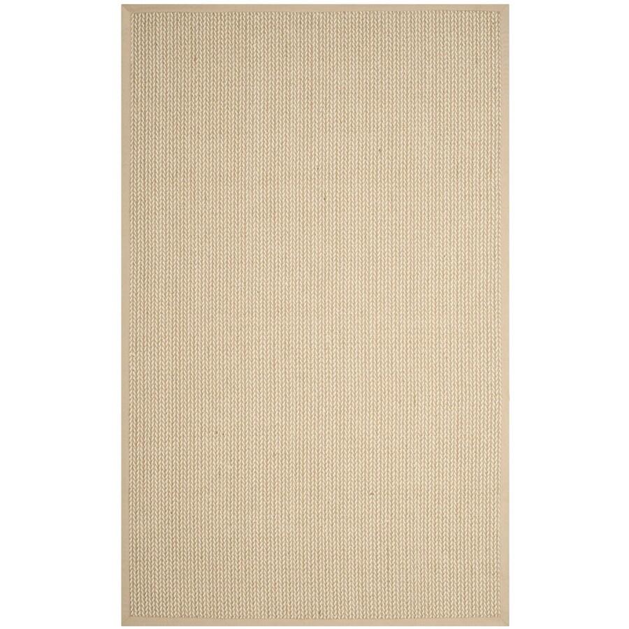 Safavieh Natural Fiber Moriches Beige Rectangular Indoor Machine-made Coastal Area Rug (Common: 6 x 9; Actual: 6-ft W x 9-ft L)