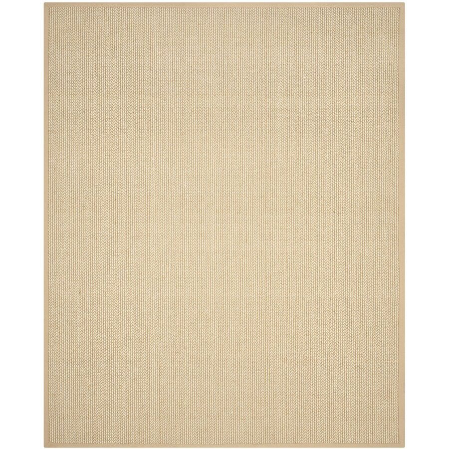 Safavieh Natural Fiber Moriches Beige Rectangular Indoor Machine-made Coastal Area Rug (Common: 8 x 10; Actual: 8-ft W x 10-ft L)