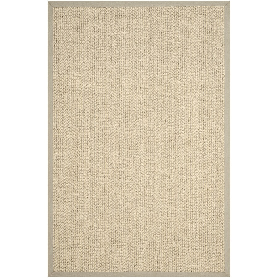 Safavieh Natural Fiber Moriches Light Gray Indoor Coastal Area Rug (Common: 4 x 6; Actual: 4-ft W x 6-ft L)