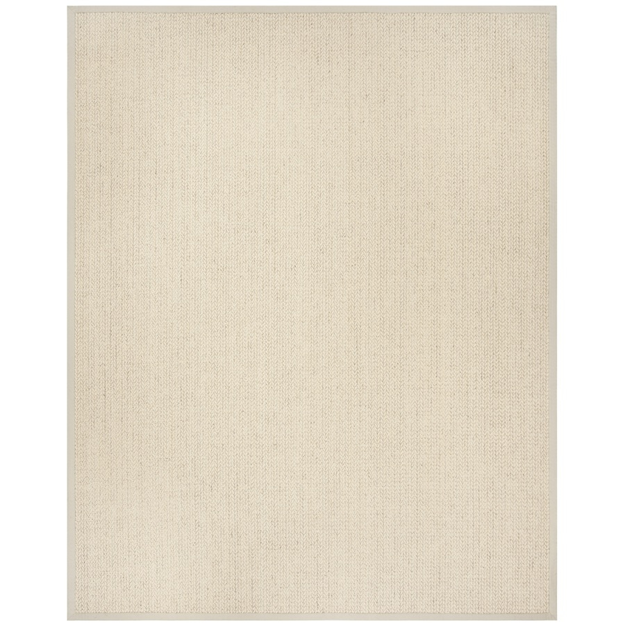Safavieh Natural Fiber Moriches Light Gray Rectangular Indoor Machine-made Coastal Area Rug (Common: 8 x 10; Actual: 8-ft W x 10-ft L)