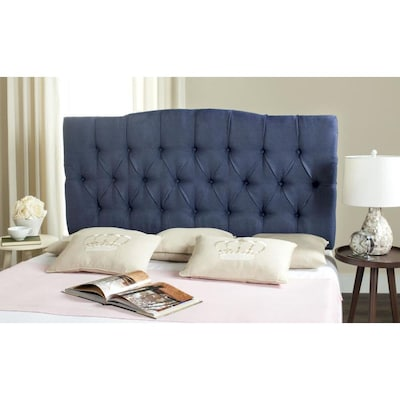 check out e680b ca8d1 Safavieh Axel Navy Linen Tufted Headboard (Navy) at Lowes.com