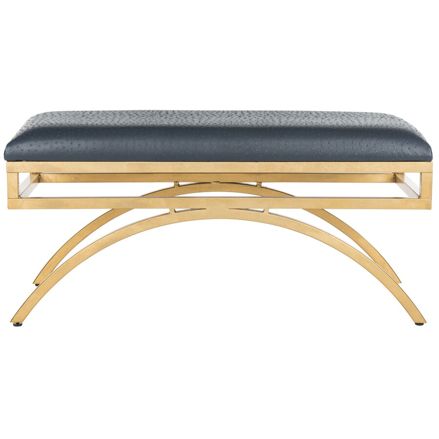 Shop Safavieh Moon Contemporary Navy Gold Accent Bench At