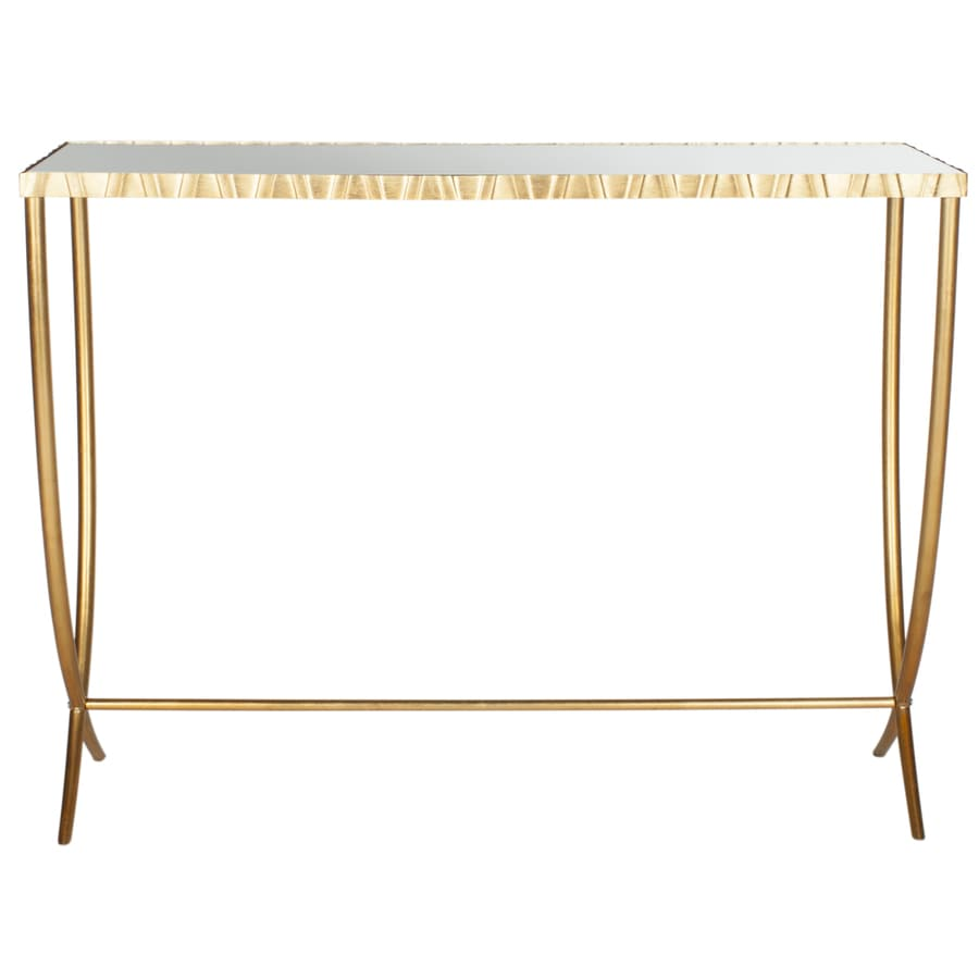 Safavieh Fox Gold/Mirror Rectangular Console Table