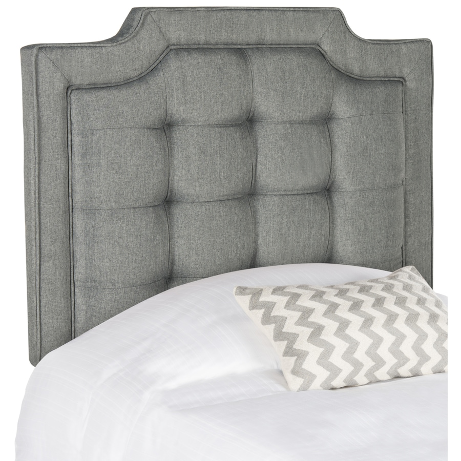 Safavieh Sapphire Gray Twin Linen Upholstered Headboard