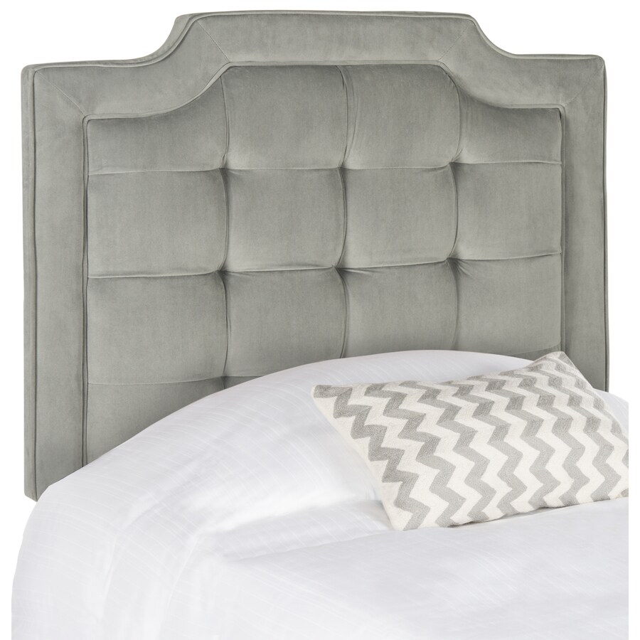 Safavieh Mercer Pewter Twin Synthetic Upholstered Headboard