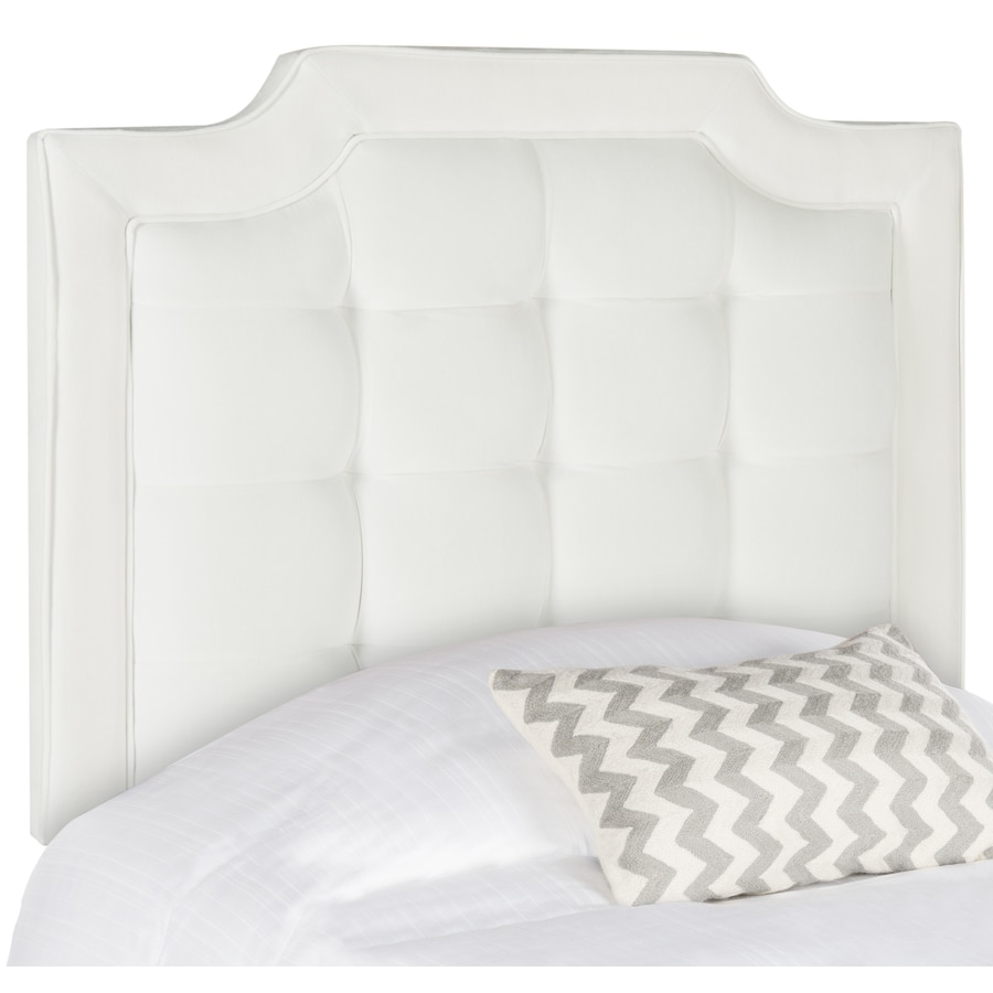Safavieh Shire White Twin Synthetic Upholstered Headboard
