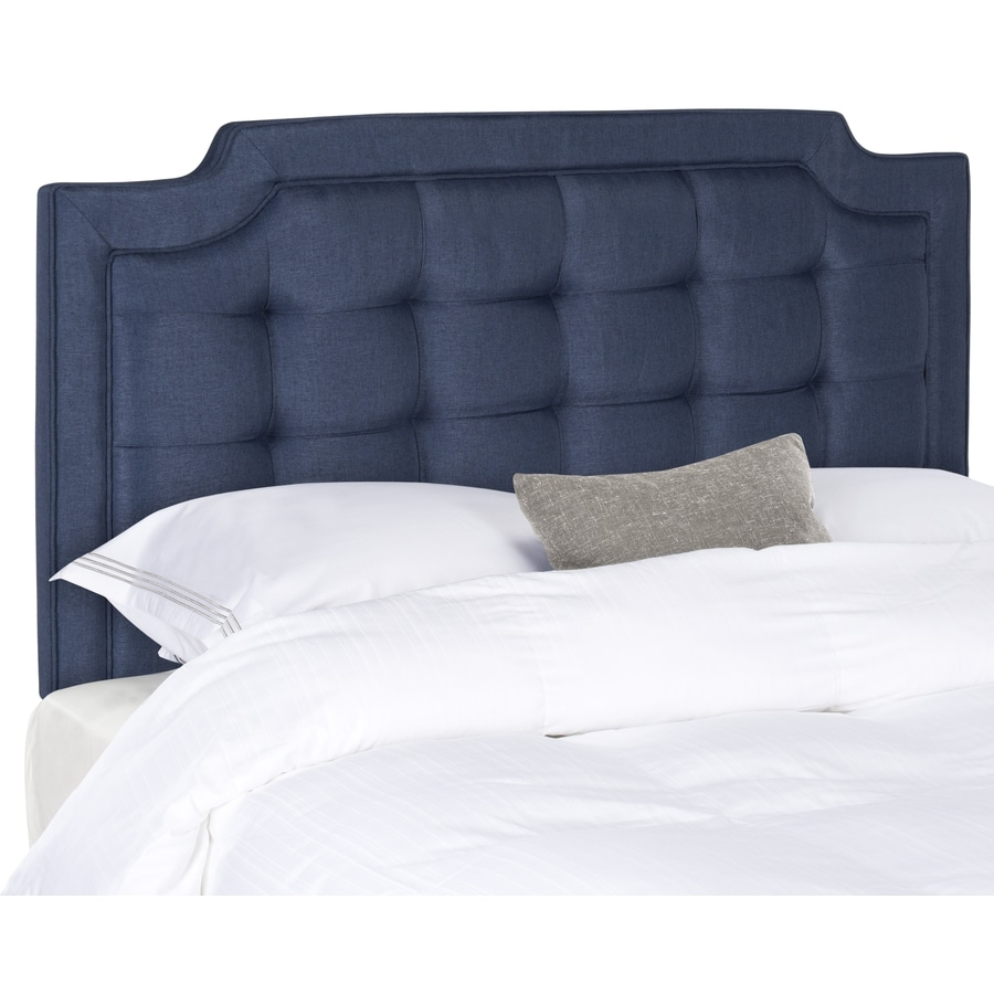 Safavieh Sapphire Navy Full Synthetic Upholstered Headboard