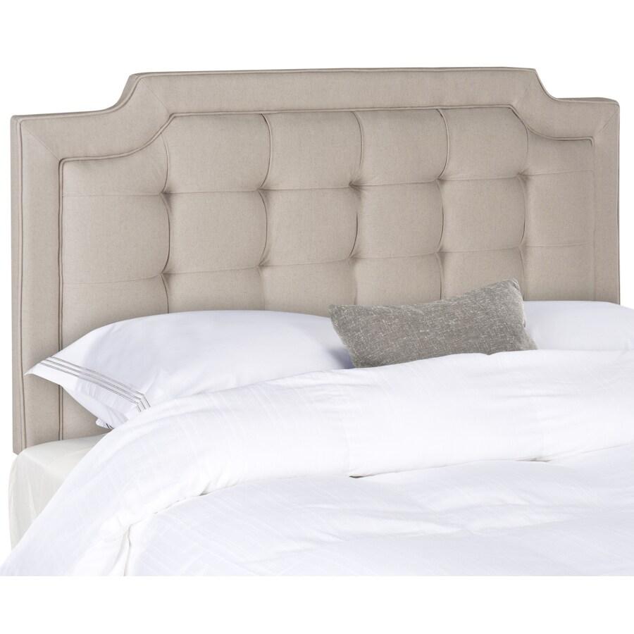 Safavieh Sapphire Taupe Queen Linen Upholstered Headboard