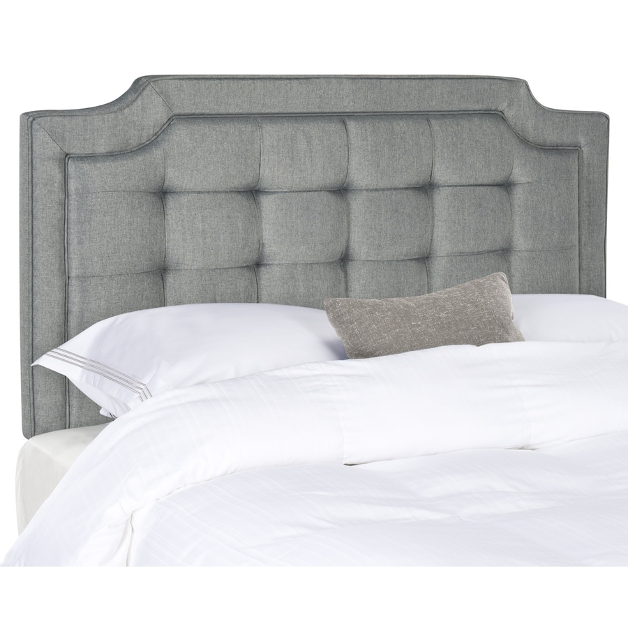 Safavieh Sapphire Gray Queen Linen Upholstered Headboard