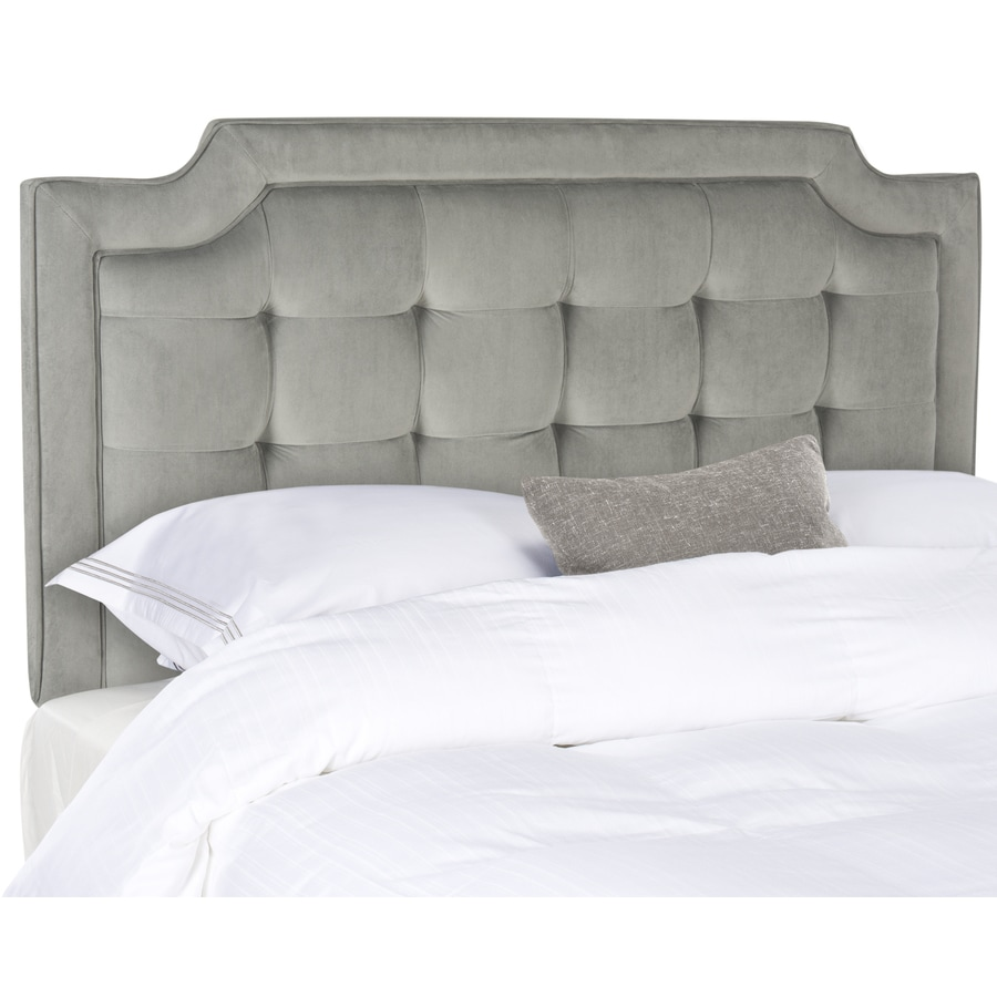 Safavieh Sapphire Pewter Queen Synthetic Upholstered Headboard