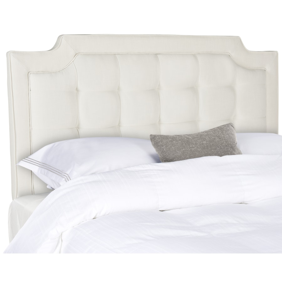 Safavieh Mercer Light Grey Queen Synthetic Upholstered Headboard