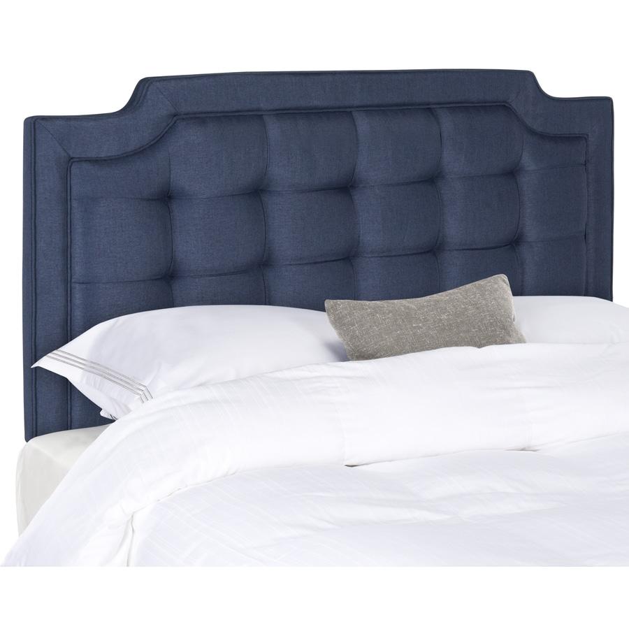 Safavieh Sapphire Navy King Synthetic Upholstered Headboard
