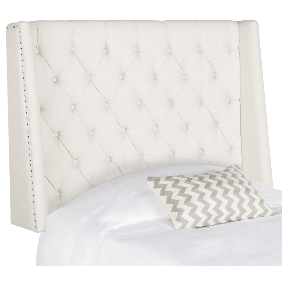 Safavieh London Light Gray Twin Synthetic Upholstered Headboard
