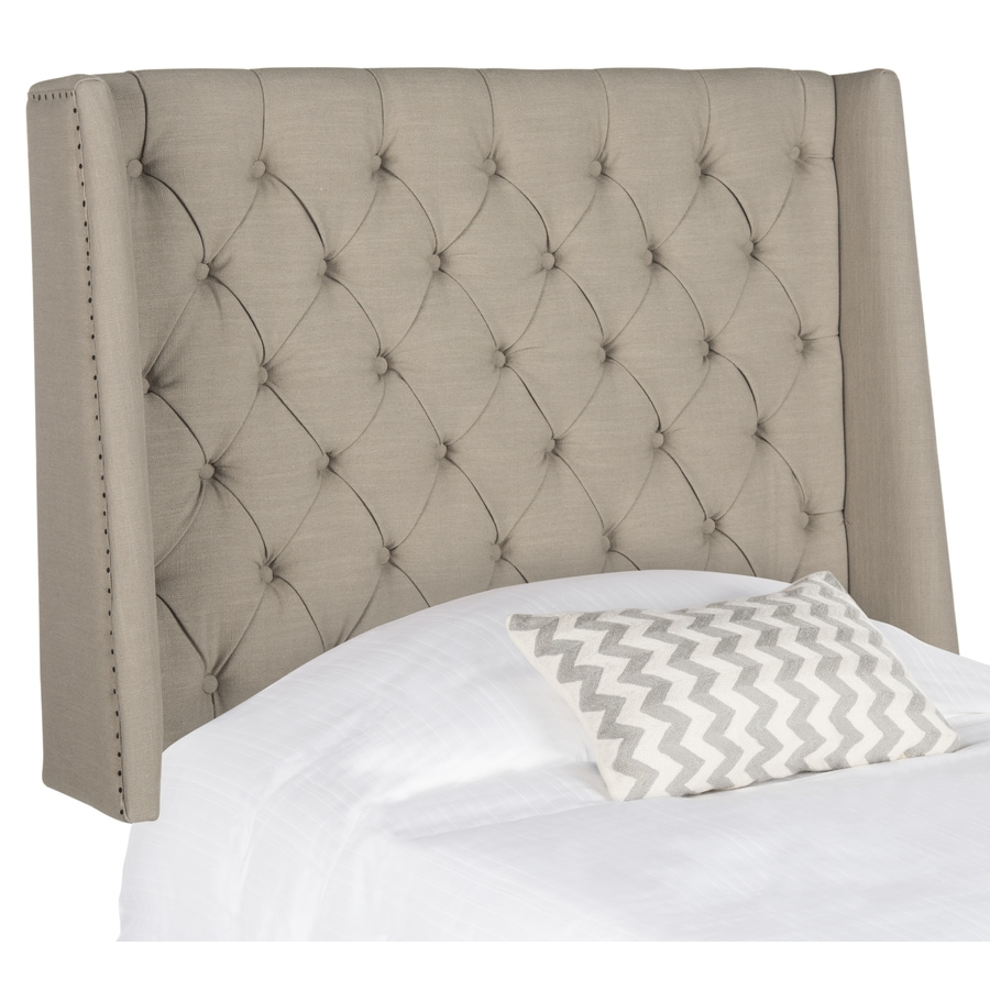 Safavieh Mercer Taupe Twin Linen Upholstered Headboard